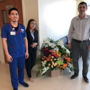 Dr. Muharram Oner, Immauell And Alyssa With A Nice Gift From One Of Our Patients